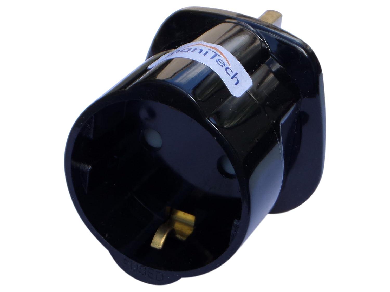 ShaniTech - Adattatore per prese del Regno Unito, da presa europea a presa inglese ST.99.0069.WH