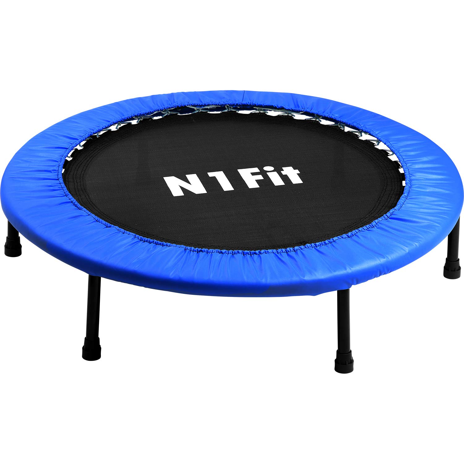 N1Fit Mini Trampoline for Adults - Exercise Trampoline, Mini Trampolines, Personal Trampoline, Trampoline Small Indoor, Rebounding Tiny Trampoline with Springs System for Home Cardio Workouts 40'' by N1Fit (Image #4)