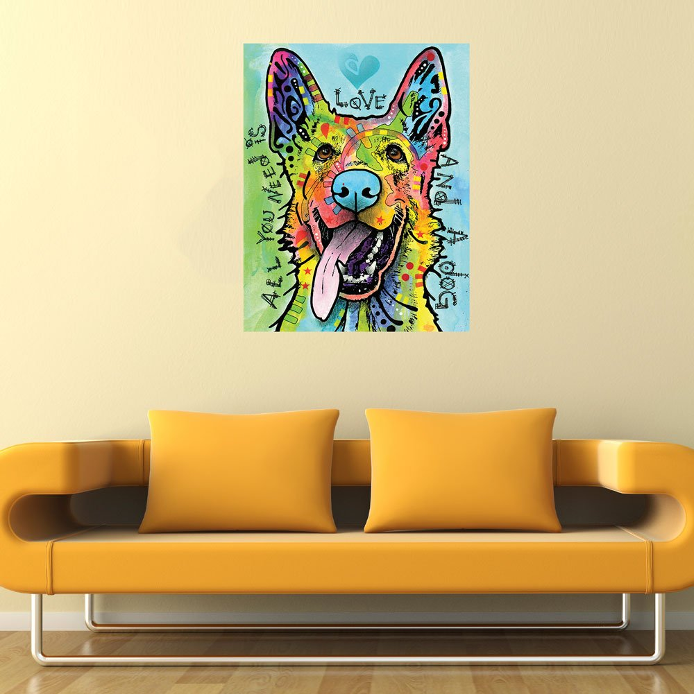 Amazon.com: My Wonderful Walls German Shepherd Pop Art Decal Love ...