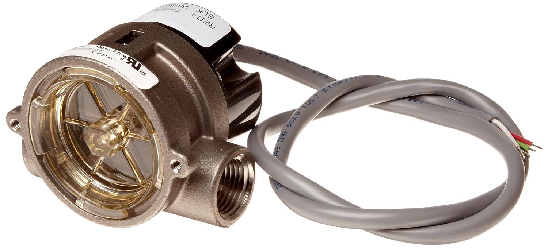 Inline 1 NPT Female Rotor Type Gems Sensors RFS Series Stainless Steel 316 Flow Sensor Switch 24 VDC Input 8.0-60.0 gpm Flow Setting Adjustment Range
