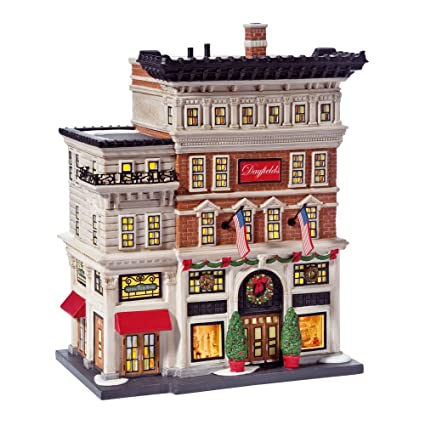 How To Store Christmas Village Houses.Department 56 Christmas In The City Village Dayfield S Department Store Lit House