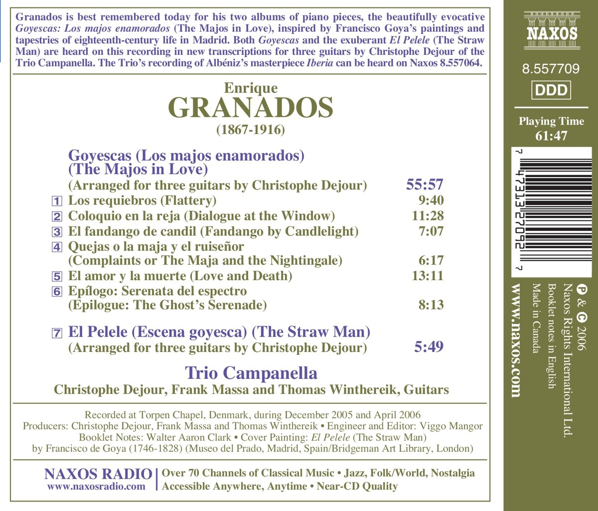 GRANADOS - Granados: Goyescas & El Pelele (for Three Guitars) - Amazon.com Music