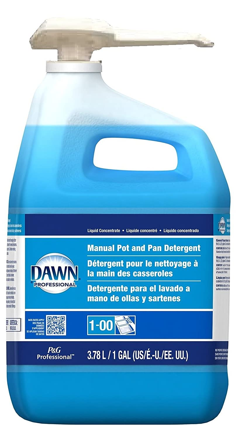 Amazon.com: Dawn Ultra, Professional Dish Detergent Liquid – Plus 2 Scrub sponges - Cuts Tough Grease - Original Scent - Blue, - With Pump Dispenser - (128 ...