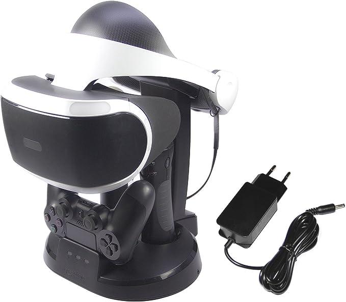 comprar AmazonBasics - Estación de carga y expositor para PlayStation VR, Negro (Para CECH-ZCM1x series PS Move Motion Controller )