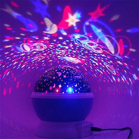 Proyector de Estrellas de estrellas iluminación lámpara 360 grados ...