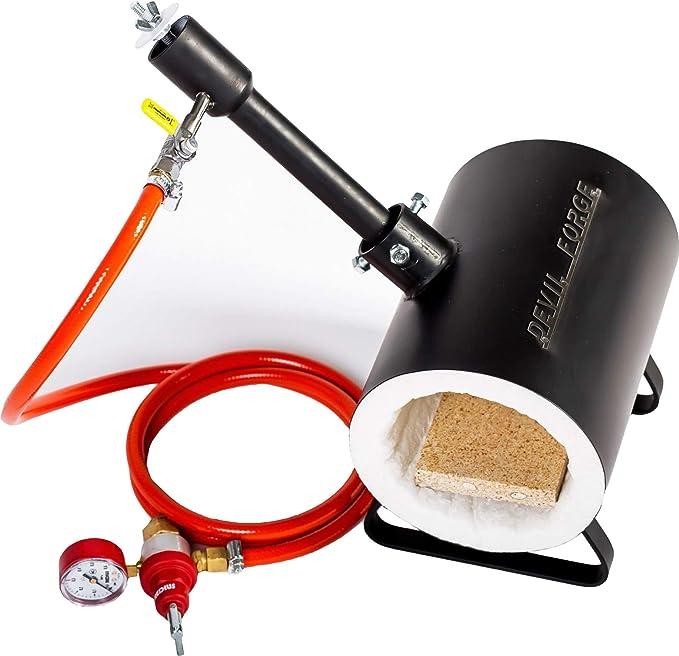Forja de gas propano para fabricación de cuchillos, herrerías, horno: Amazon.es: Bricolaje y herramientas