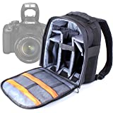 DURAGADGET High Quality DSLR Camera Backpack / Rucksack with Adjustable Padded Interior for Canon EOS 350D Digital SLR Camera (18-55mm Lens Kit)
