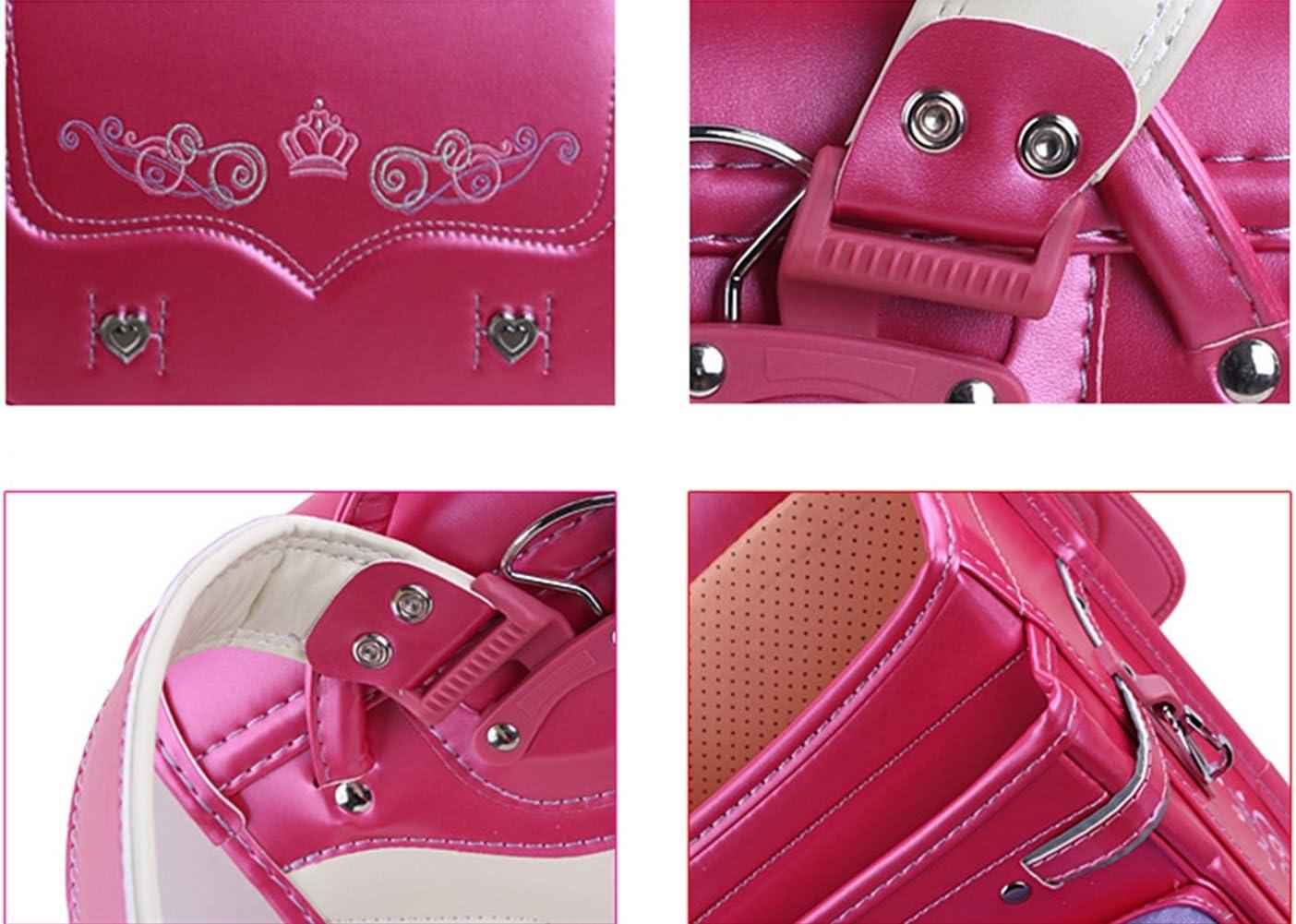 SK Studio Japanese Style Kid Backpack Lightweight PU Leather School Bag