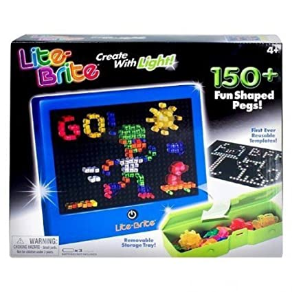 lite brite magic screen 150 pegs 4 reusable templates