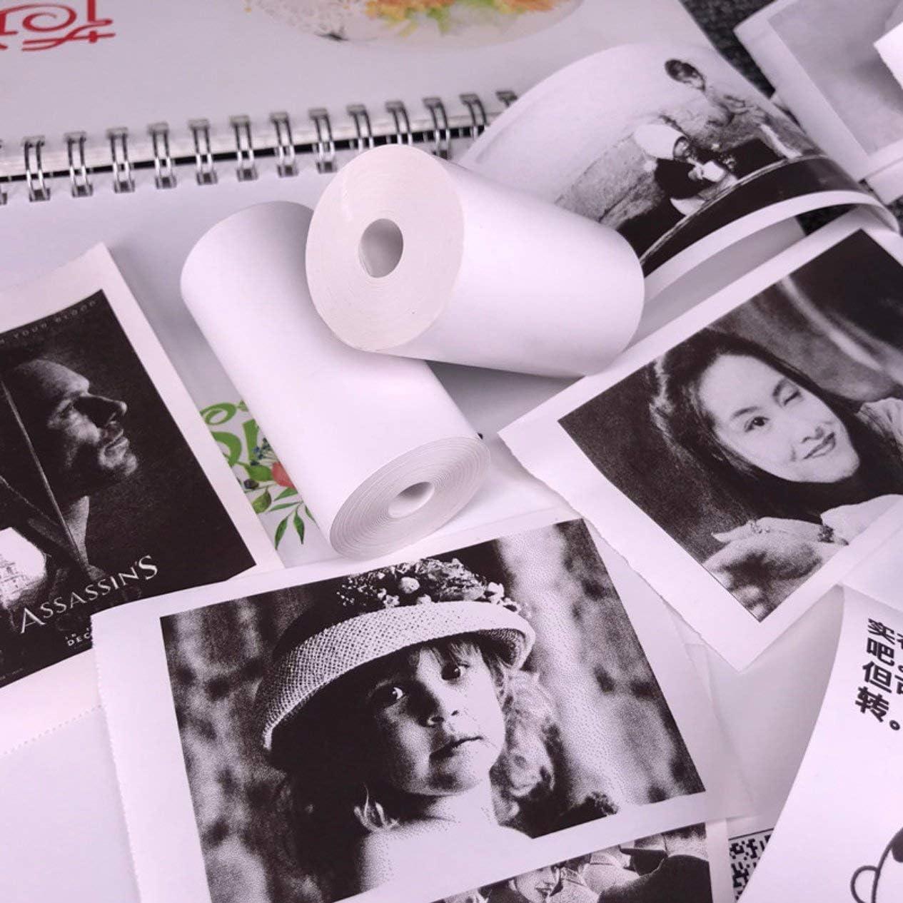 noir 5 rouleaux de papier autocollant imprimable papier thermique direct 57x30 mm pour imprimante de poche portable PAPERANG