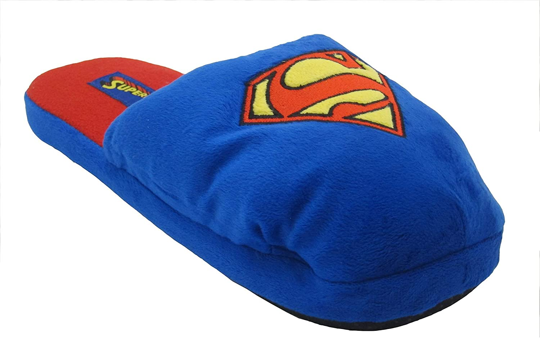 DC Comics Superman Symbol Plush Slippers