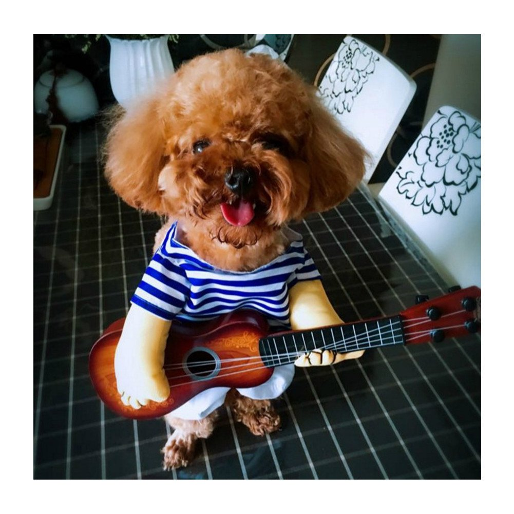 0b39322b1b7b3 Amazon.com : WeeH Dog Costume Clothes Halloween Cat Costumes Small Animal  Funny Pets Clothing for Doggy Kitty Rabbits Piggy Christmas Gift, Guitar,  ...