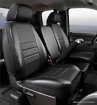 Black w//Gray Center Panel Fia SL69-23 GRAY Custom Fit Front Seat Cover Split Seat 40//20//40 Leatherette