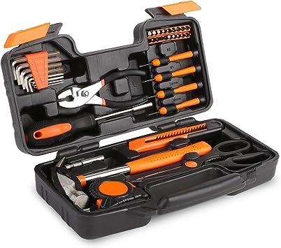 FIXKIT Kit de Herramientas de 39 Piezas, Herramientas Domésticas, Kit de Herramientas Manuales, Estuche de Herramientas: Amazon.es: Bricolaje y herramientas