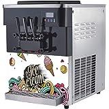 Ice Cream Maker Machine for Soft Serve 50-Quart Output HALF PRICE AMAZON ONLY SALE Gelato Custard Bakeries Frozen Yogurt Snack Bars For Restaurants 2 Individual /& 1 Mix Cafes LCD Screen /& 3 Flavors Sorbet