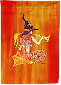 Caroline's Treasures 8629GF Mermaid in Witches Hat Halloween Flag Garden Size, Small, Multicolor