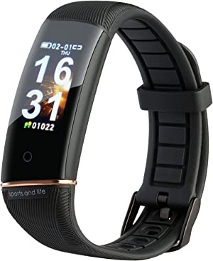 DOUDING Fitness Tracker, Activity Tracker Watch with Heart Rate Monitor, Waterproof Smart Fitness Band with Step Counter, Pedometer Watch for Women and Men