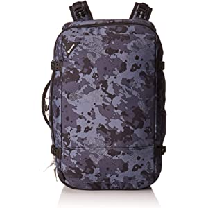 Pacsafe Vibe 40 40L Anti theft Carry on City Travel Backpack Bag GreyCamouflage