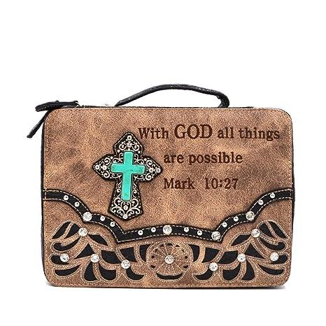 Amazon.com: Bible Cover Western Bible - Funda para libro ...
