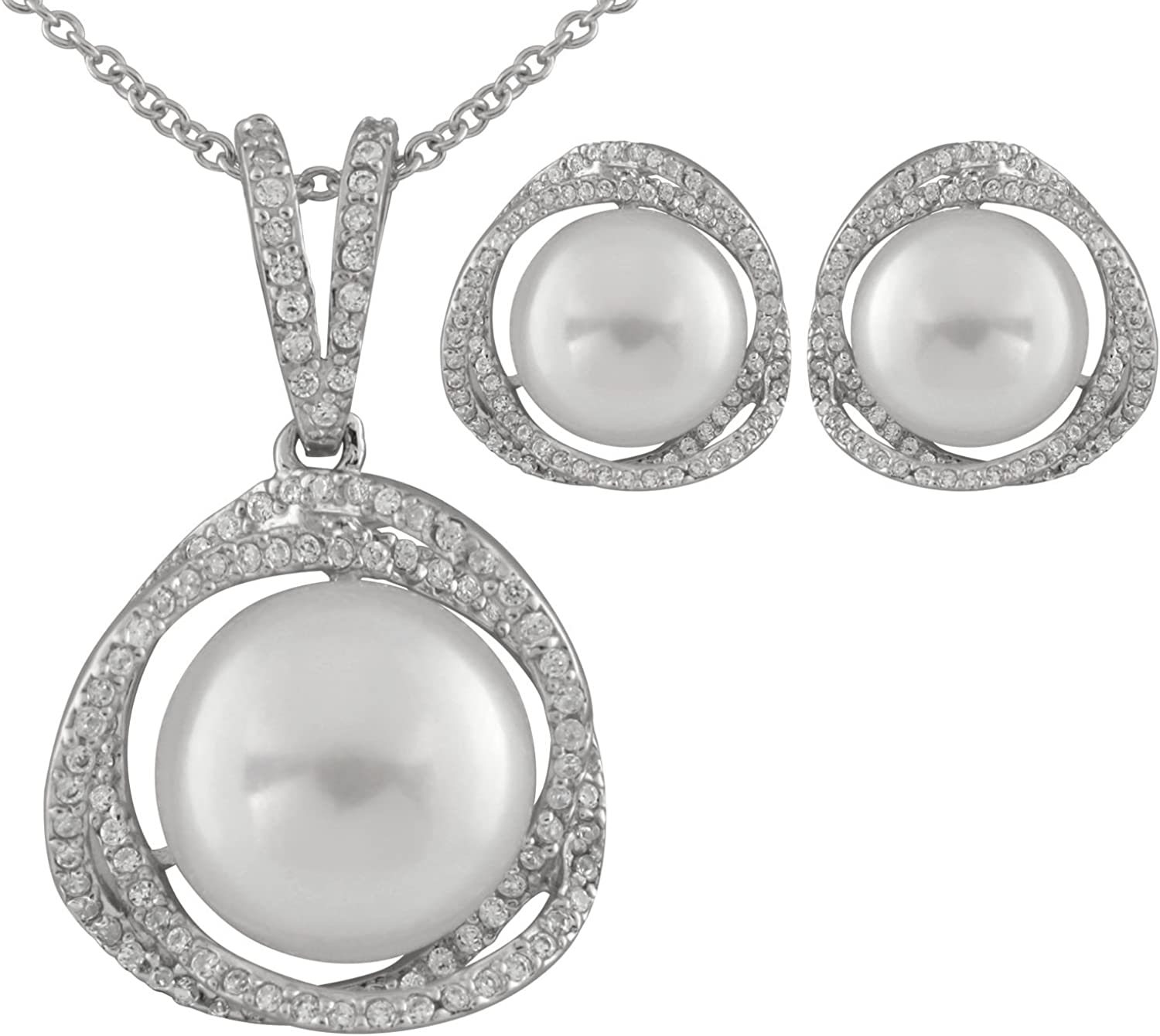 925 STERLING SILVER /& 12MM TO 13MM SILVER FRESHWATER PEARL NECKLACE