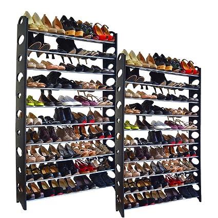 Naibang New 20 Tier Shoe Rack 100 Pair Wall Bench Shelf Closet Organizer  Storage Box