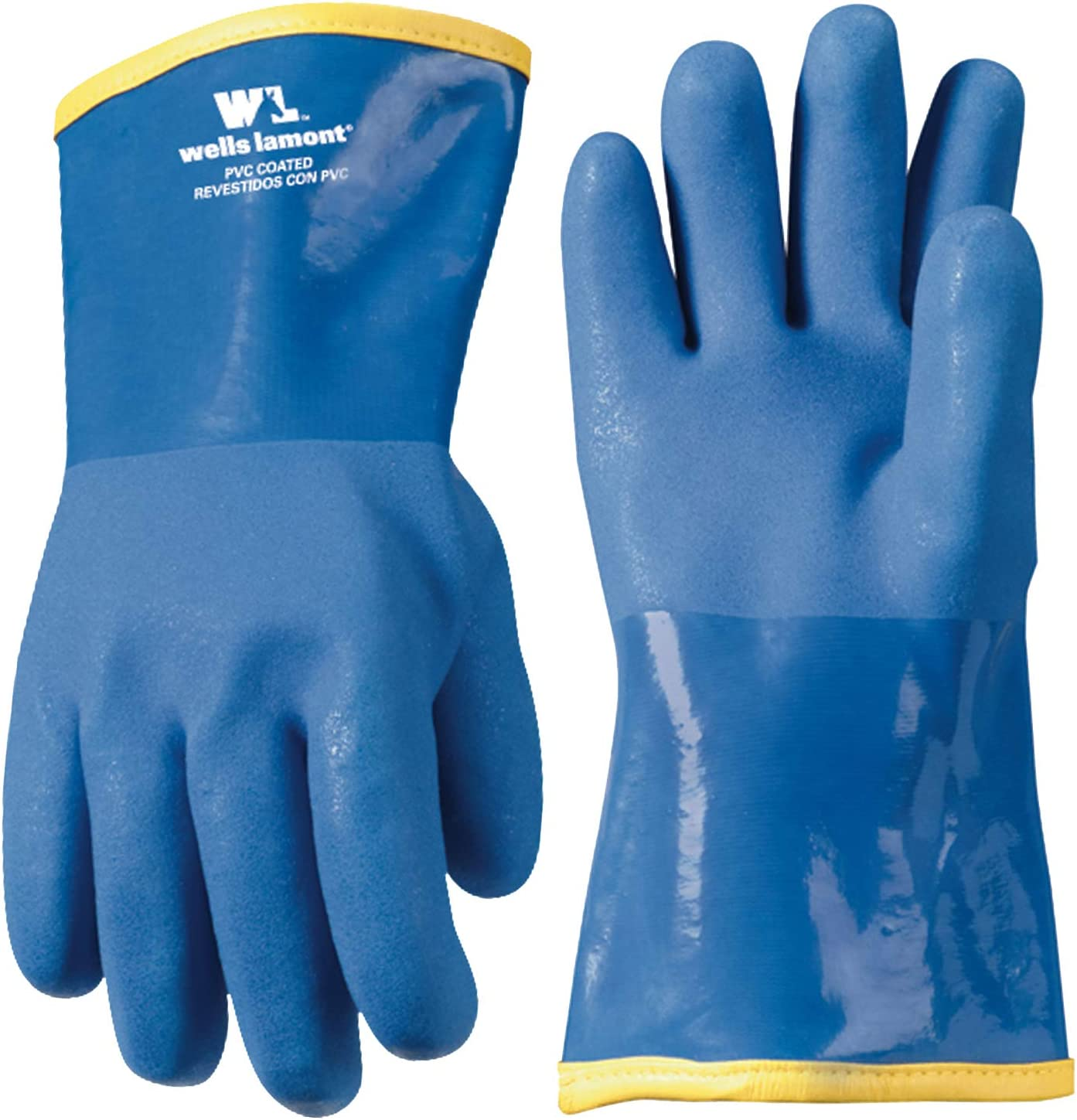 "12"" Lined PVC Chemical Resistant Gloves, One Size (Wells Lamont 194) - Wells Lamont Gloves Cold Weather -"