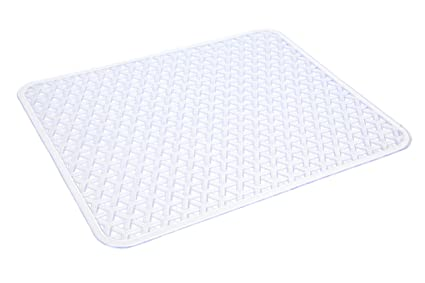 Smart Design Sink Protector - Knitted Design - PVC Material - Hand Washable  - Protects Sinks from Damages & Scratches - Kitchen (12.6 x 10.5 Inch) ...