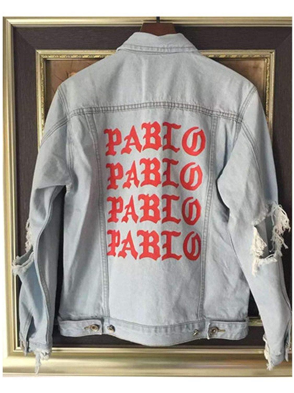 Jeff Tribble New Pablo Kanye West Denim Jackets Men The Life