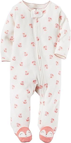 ed7be349dd38 Amazon.com  Carter s Baby Girls  One Piece Fox Print Sleep   Play 9 ...