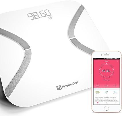 Amazon.com: ROOMIE TEC - Báscula de cuerpo inteligente con ...