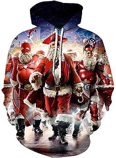 fb135d21b Gludear Unisex 3D Print Ugly Christmas Tree Christmas Balls Santa Pullover Sweatshirt  Hoodies