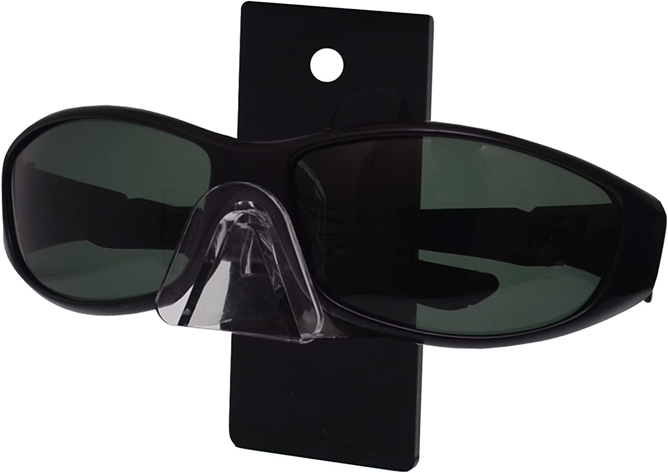 3 Tier SUNGLASSES EYEGLASSES display STAND with Black Back Glasses Nose Acrylic
