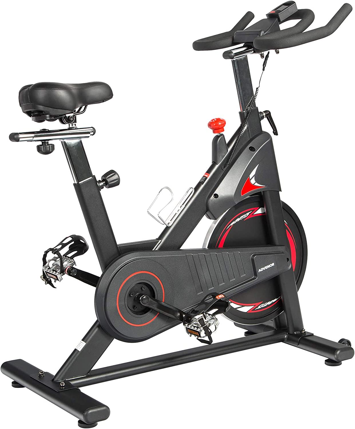 ADVENOR Magnetic Resistance Exercise Bike, Indoor Stationary Bikes for Home Workout, Quiet Belt Drive with LCD Monitor, Support up to 330 lbs, Flywheel 35 lbs