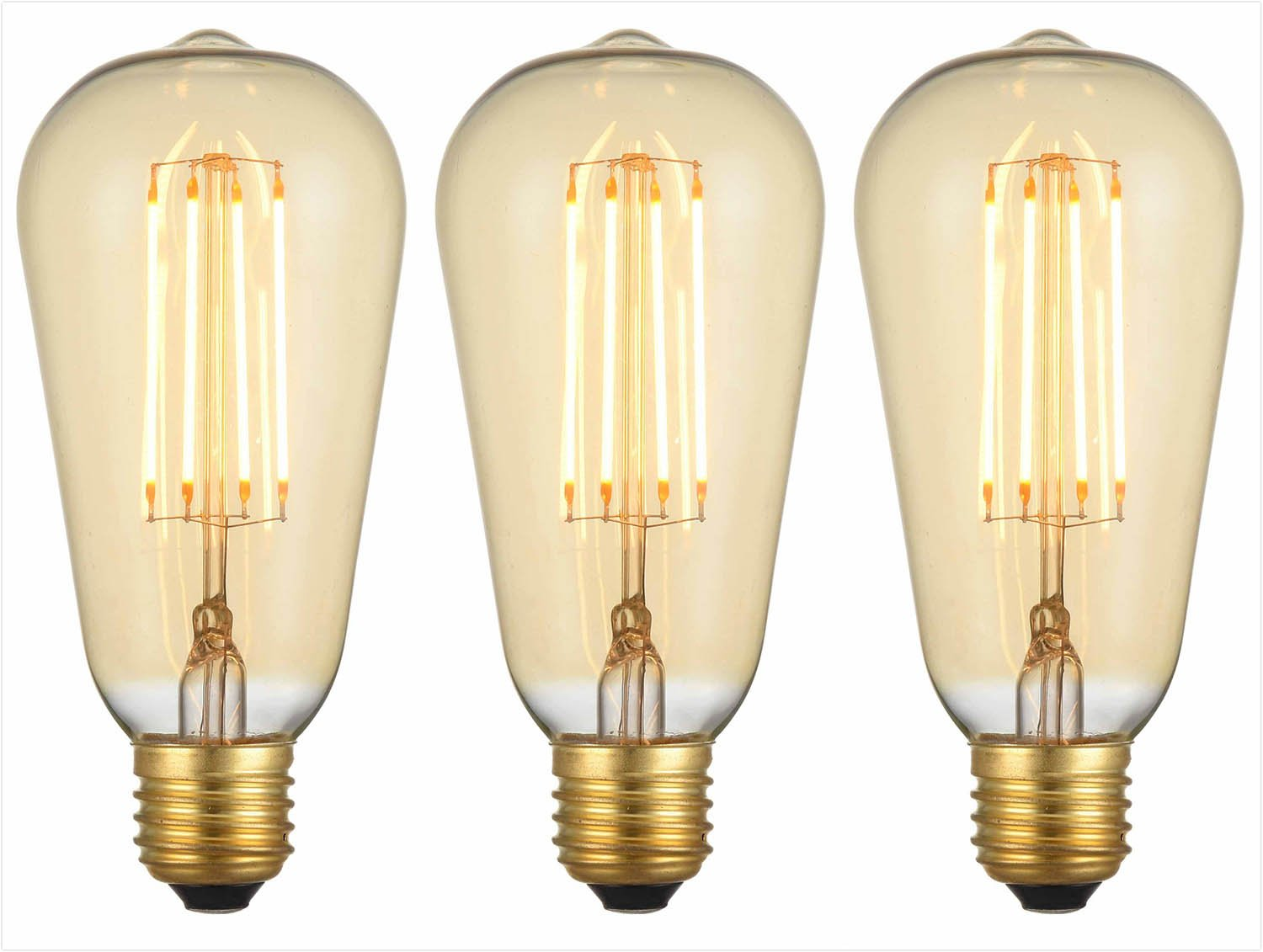 Squirrel cage Filament Old Fashioned Edison Vintage Light Bulb 60W E27 Screw INT/® Pack of 6