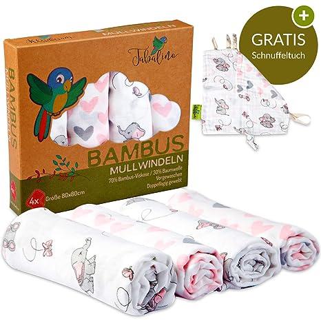 Tabalino - sueño antiadherente suave bambú Gasas/Motherhood - Toalla con simpáticos motivos; 80