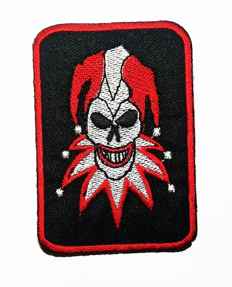Comedian Joker Card Magician Rockabilly Biker Logo Patch Embroidered Sew Iron On Patches Badge Bags Hat Jeans Shoes T-Shirt Applique