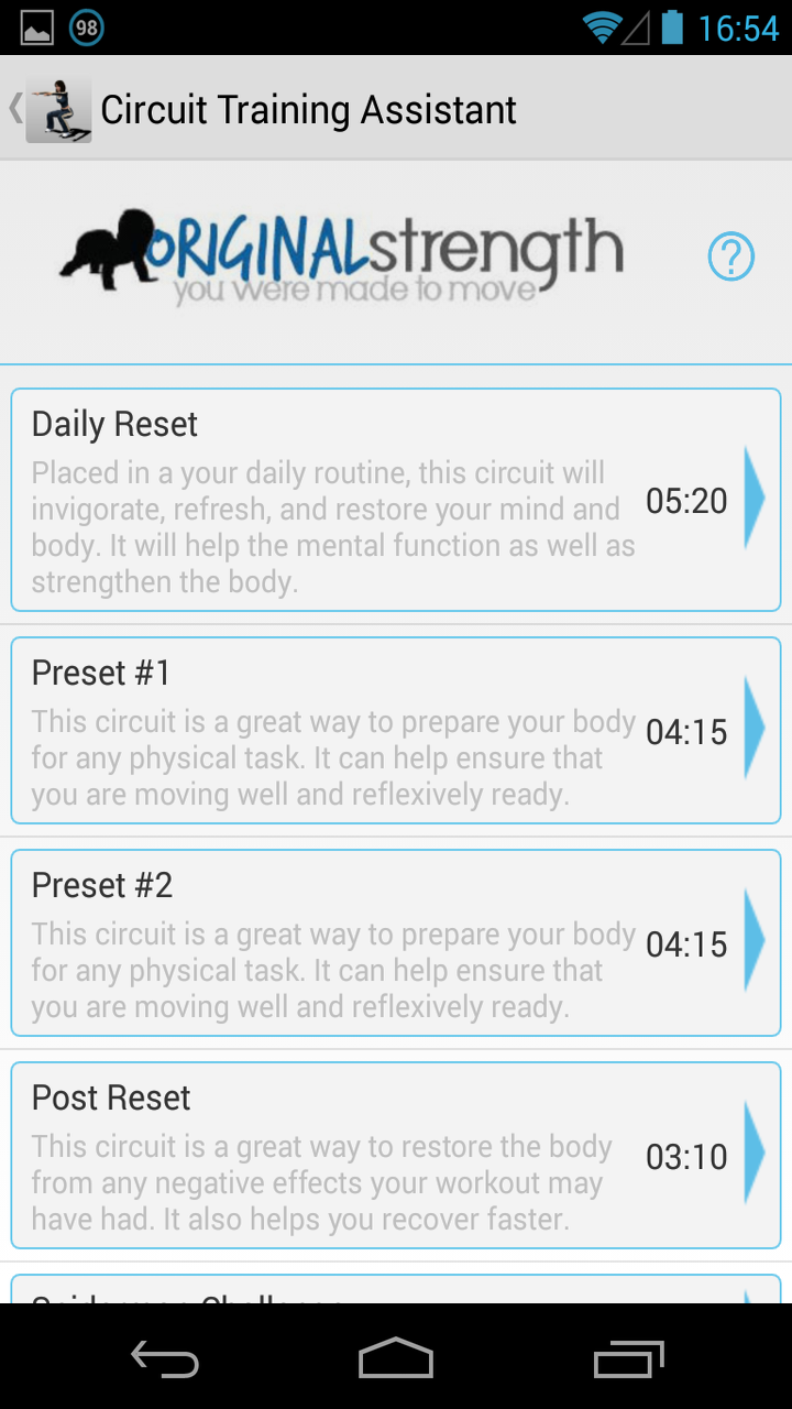 Circuit Training Assistant Appstore For Android The Basic We Did Today