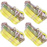 """Autofonder Ratchet Tie Down Strap - 4 Pack 2"""" x 27' Heavy Duty Ratchet Straps with Aluminum Handle, Cargo Straps for Moving A"""