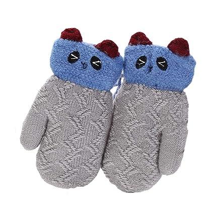 vendu dans le monde entier Conception innovante nouveau design JUNGEN Enfant Gants Tricoté Moufle Epais Gants Hiver Chaud ...