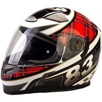 Viper RS-V9 Full Face casco de moto, diseño de tartán escocés