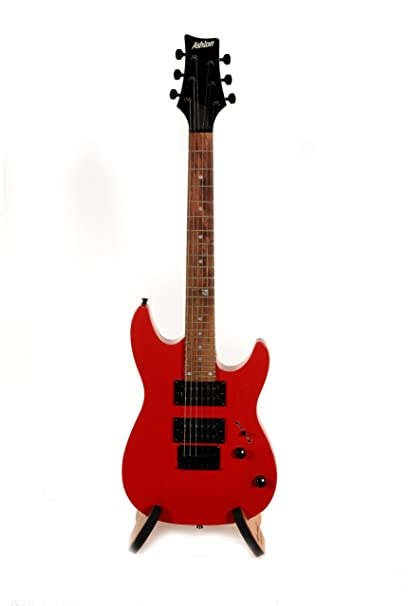 ASHTON JOEYBACKSTAGERD - Guitarra eléctrica, color rojo: Amazon.es ...