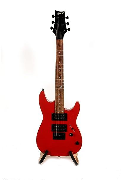 ASHTON JOEYBACKSTAGERD - Guitarra eléctrica, color rojo: Amazon.es ...