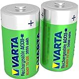 Varta -  Piles rechargeables C (HR14) bébé Ni-Mh (2-Pack, 3000 mAh) - pré-chargées