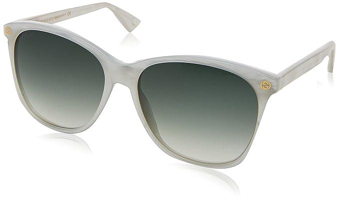 Gucci GG0024S, Gafas de Sol para Mujer, Blanco (White/White ...