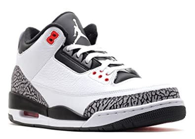 RETRO 3 AIR JORDANS WHITE/BLACK/CEMENT GRAY 136064-123 SZ 12-CLEAN