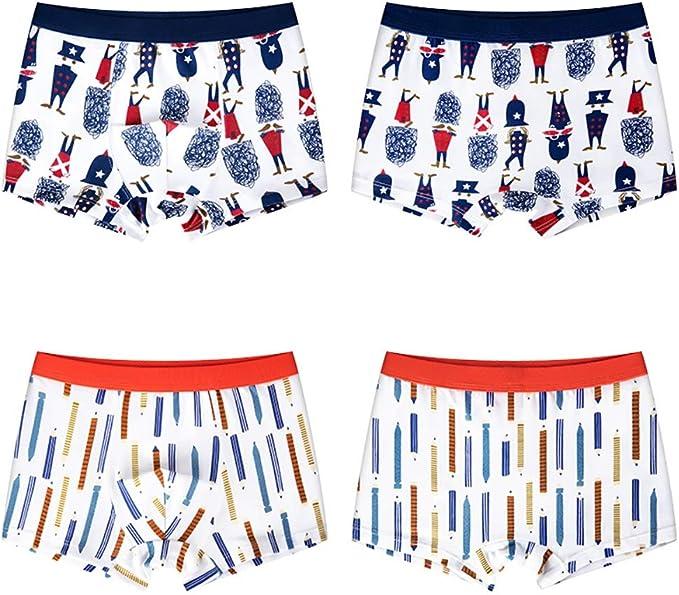 Little Boys Boxer Briefs Cartoon Letter Comfort Cotton Shorts Underwear Pack of 5