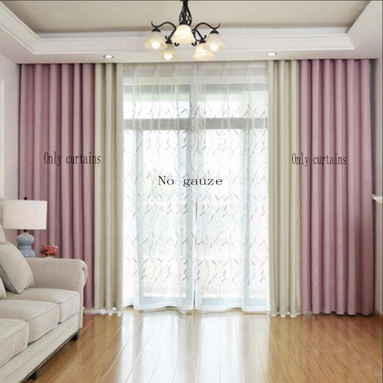 Curtain Modern Simple Cotton Linen Linen Shading Splicing ...