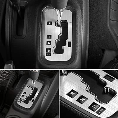 E-cowlboy Trim Gear Frame Cover Gear Shift Box Cover for Jeep Wrangler 2012~2020 Aluminum Inner Accessories Custom Fit - All Weather Protection (Silver): Automotive