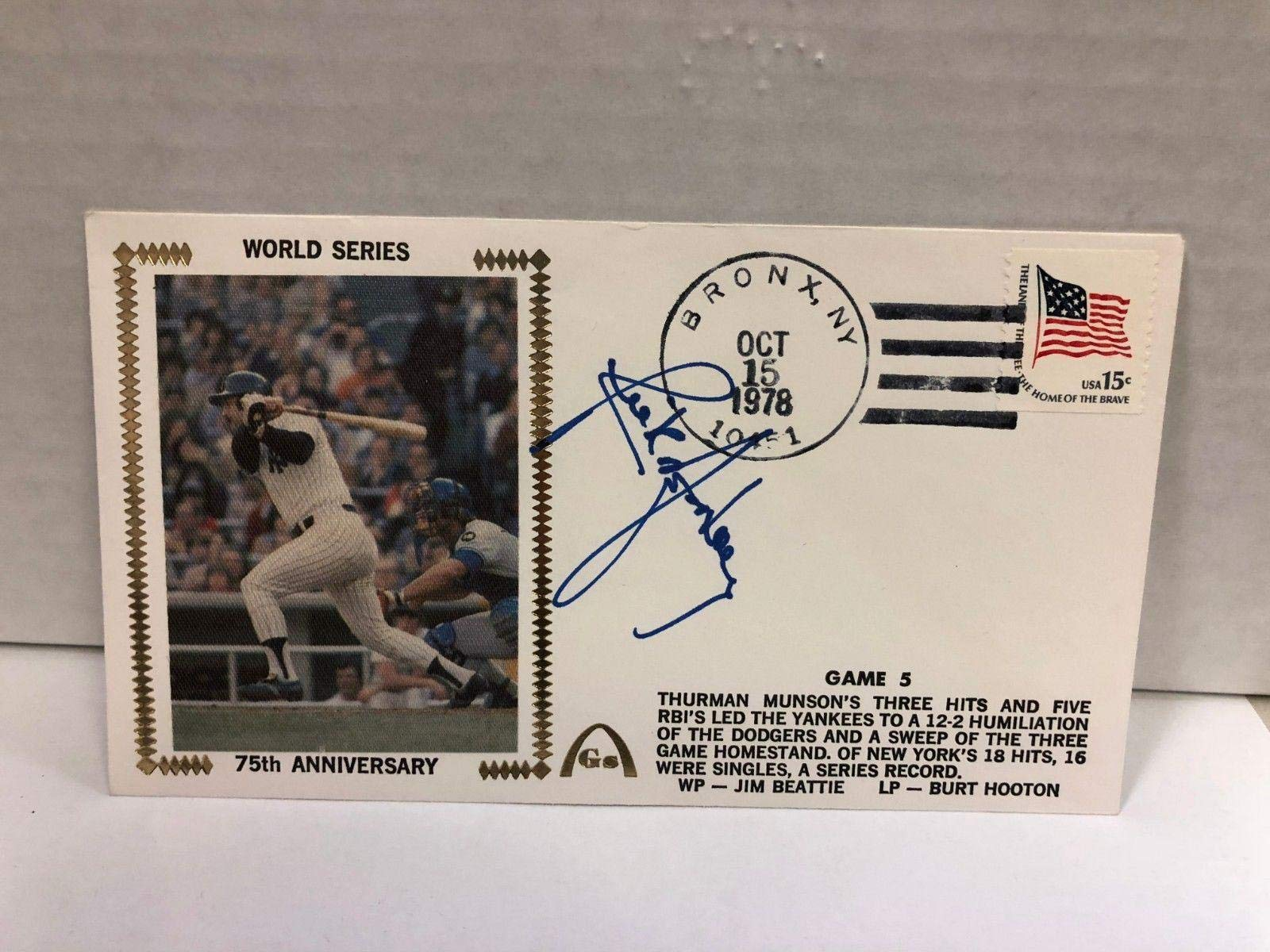 Rick Monday Autographed Signed Original Silk Cachet First Day Issue COA JSA Certified MLB Cut Signatures