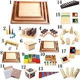 11pcs Costruzioni Geometria Sensoriali Di Legno Giocattolo Educativo Per Prima Infanzia